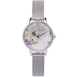 OLIVIA BURTON 蒲公英的水晶魔力款手錶(OB16SG03)-銀面/30mm