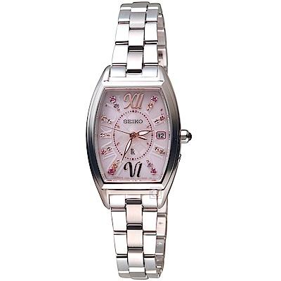 SEIKO精工LUKIA太陽能耶誕電波 腕錶(SSVW129J)-粉紅