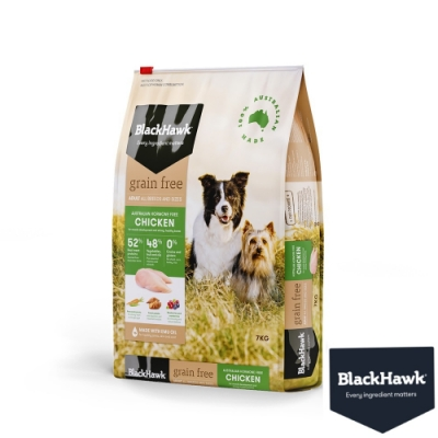 BlackHawk黑鷹 成犬優選無穀雞肉豌豆 7KG  鴯苗油 100%澳洲食材 狗飼料 無穀飼料
