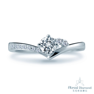 Alesai 艾尼希亞鑽石 18分 V型鑽戒