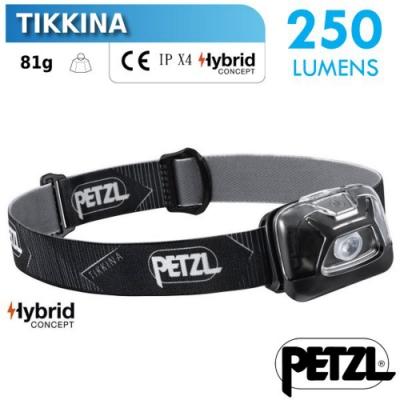 法國 Petzl TIKKINA 超輕量戶外頭燈(250流明)_黑