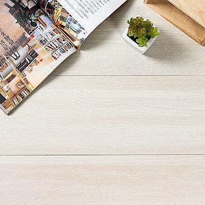 樂嫚妮 塑膠PVC仿木紋DIY地板貼 6.9坪 乳白白蠟木