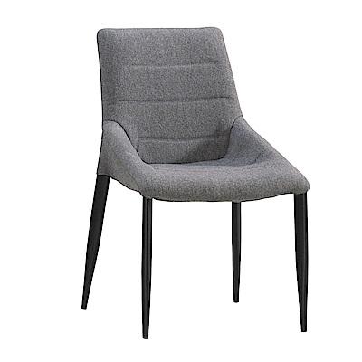 品家居 華可莎亞麻布餐椅2入組合(二色可選)-50x56x83cm免組