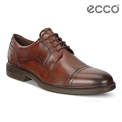 ECCO LISBON 商務正裝紳士鞋 男-棕色