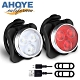 Ahoye 四段調整自行車燈組 前燈+尾燈 USB充電 單車警示燈 腳踏車 product thumbnail 1