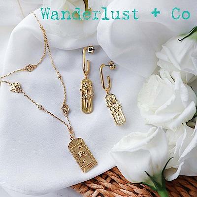[時尚套組] Wanderlust + Co 薔薇項鍊耳環組