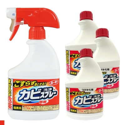 日本 第一石鹼 浴室 400ml 除霉噴霧劑x1+補充瓶x3 入門組合
