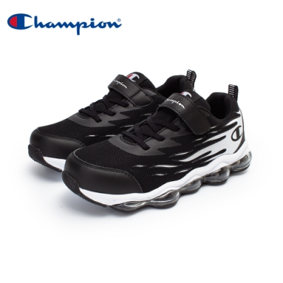 【Champion】FLAME 氣墊運動鞋 大童鞋-黑/白(KFUS-0377-10)