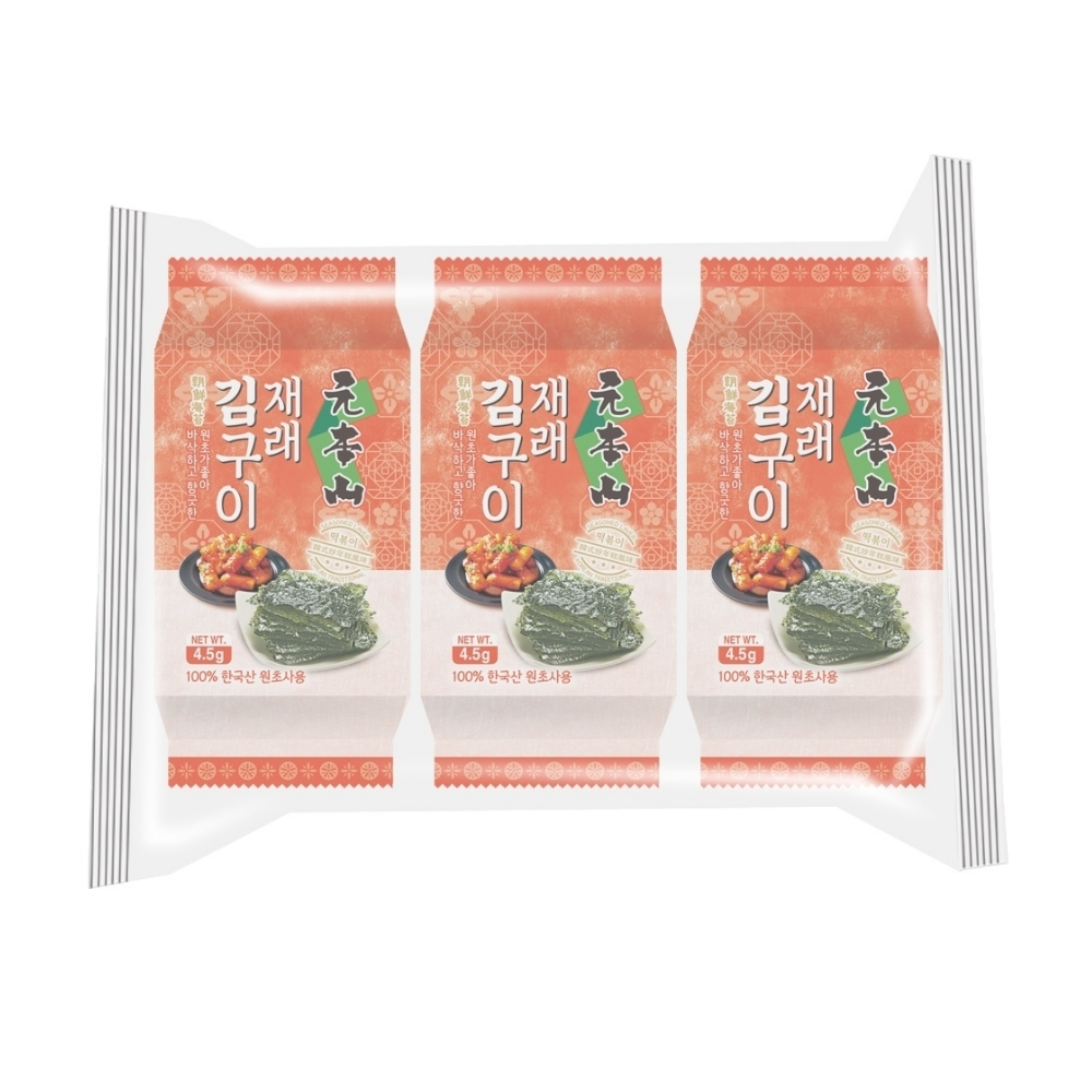 元本山 朝鮮海苔韓式炒年糕風味(4.5克x3包)