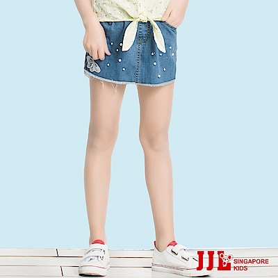JJLKIDS 繁星珍珠滴落牛仔褲裙(牛仔藍)