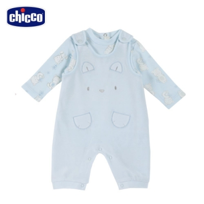 chicco-粉彩-精選星星小熊兩件式背心褲套裝(去腳套)