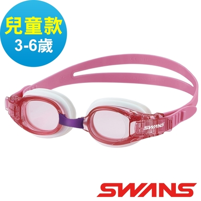 【SWANS 日本】JUNIOR兒童快調式泳鏡SJ-8N粉紅/防霧鏡片/抗UV/舒適矽膠