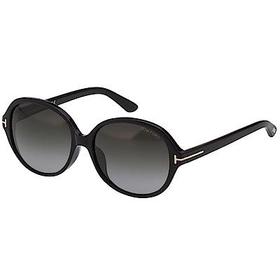 TOM FORD 復古圓面 太陽眼鏡(黑色)TF 216