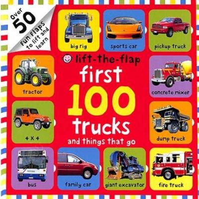 Lift-The-Flap First 100 Trucks 硬頁翻翻操作書(美國版)