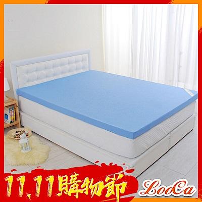 (雙11限定)LooCa花焰超透氣6cm記憶床墊-單大3.5尺