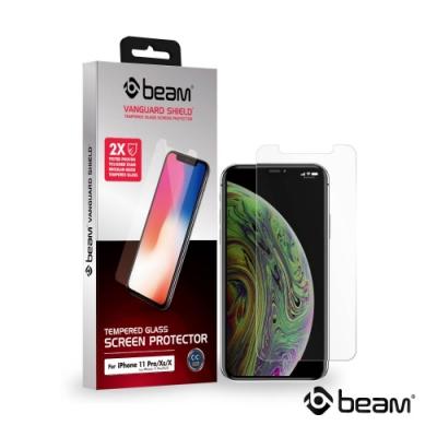 【BEAM】 iPhone 11 Pro/X/Xs 透明耐衝擊鋼化玻璃保護貼