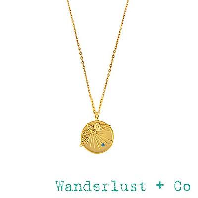 Wanderlust+Co 澳洲品牌 金色蜜蜂項鍊 復古雕刻錢幣項鍊 PETITE BEE