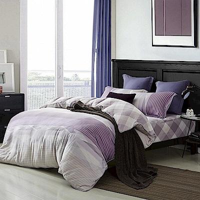 夢工場 幻紫情調60支天絲頂規款兩用被鋪棉床包組-特大