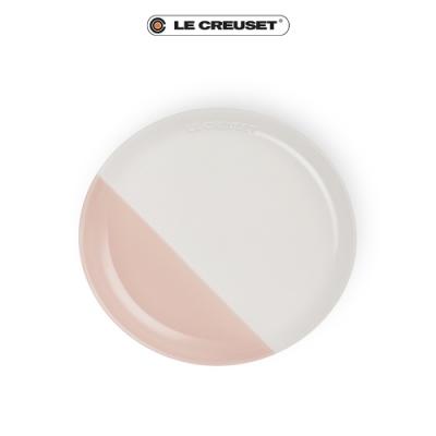 [結帳7折] LE CREUSET瓷器花蕾系列餐盤22cm-棉花白/花漾粉