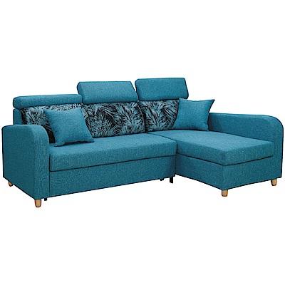 文創集 雷拉亞麻布L型沙發/沙發床(二向可選)-220x156x84cm免組
