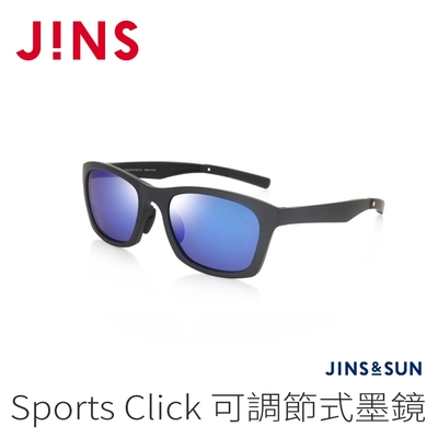 JINS&SUN Sports Click 可調節式墨鏡(AMRF21S130)經典黑