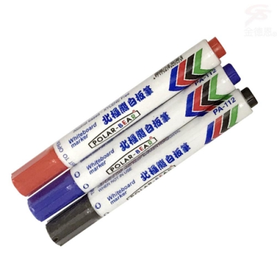 金德恩 台灣製造 白板專用 防乾補充式白板筆/18支/組