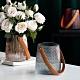 【Meric Garden】現代北歐ins輕奢皮革手提玻璃花瓶/收納罐_小 product thumbnail 1