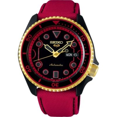 SEIKO 精工 5 Sports x 快打旋風 KEN 聯名限量機械錶-42.5mm(4R36-08R0R/SRPF20K1)