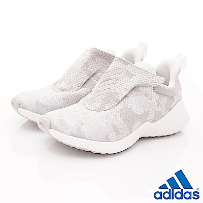 adidas童鞋 FortaRun針織款 TH7336銀(中大童段)