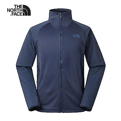 The North Face北面男款深藍色保暖抓絨外套|3RKMH2G