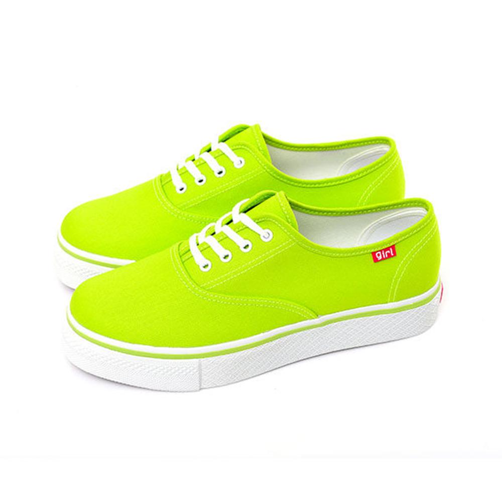 【TOP GRIL】繽紛輕柔厚底帆布鞋-中綠