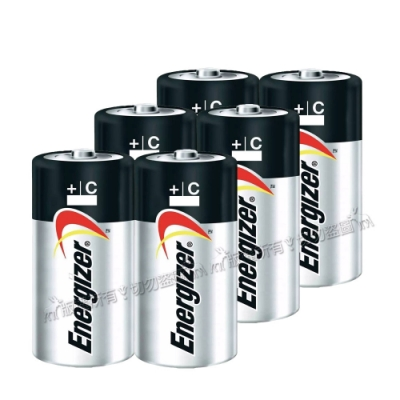 Energizer 勁量 持久型<b>2</b>號鹼性電池 (6顆入)