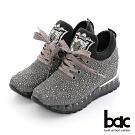 【bac】閃耀亮鑽舒適綁帶厚底休閒鞋-銀