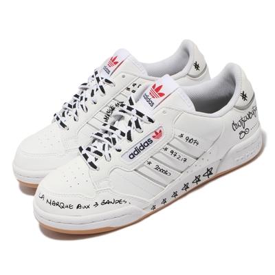 adidas Continental 80 Stripes 男女鞋 愛迪達 休閒鞋 塗鴉 情侶鞋 白 黑 GV9797