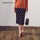 【MASTINA】點點造型針織修身-長裙