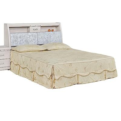 Bernice-卡瓦亞5尺雙人床組(床頭箱+床底)