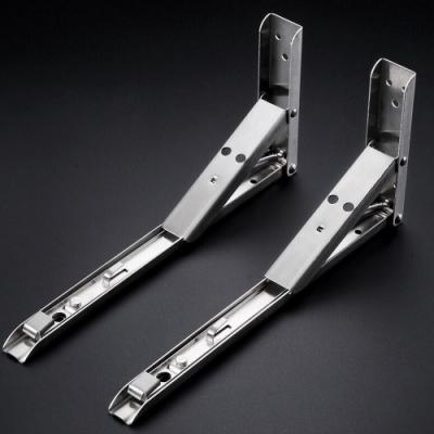 AC045 一組2入 不銹鋼可折式 輕型8英寸 摺疊式三角架 L型支撐架 層板架