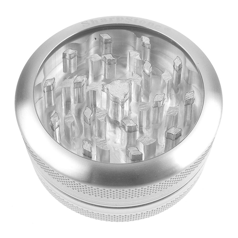 SharpStone-Clear Top-磨菸器/研磨器-2層式(銀色款)