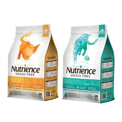 【2入組】Nutrience紐崔斯GRAIN FREE無穀養生貓糧-漢方草本系列 1.13kg(2.5.lbs) 購買第二件贈送寵鮮食零食*1包