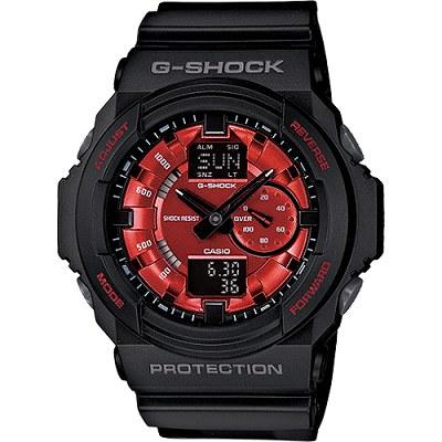 G-SHOCK 大錶徑重裝雙顯示男錶-黑X紅(GA-150MF-1A)/33mm