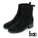 【bac】中性時尚閃耀彈力布短靴-黑