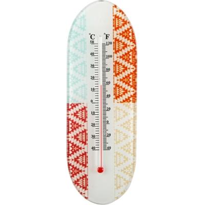 《VERSA》玻璃壁掛式溫度計(多彩圖騰)