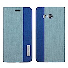 Metal-Slim HTC U11 ( Ocean ) 仿牛仔布料雙色拼接TPU皮套