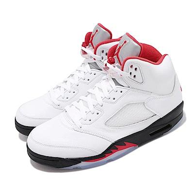 Nike 籃球鞋 Air Jordan 5代 流川楓 男鞋 Fire Red 飛人 喬丹 AJ5 經典 白紅 DA1911102