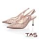 TAS質感透膚燙鑽高跟涼鞋-質感膚 product thumbnail 1