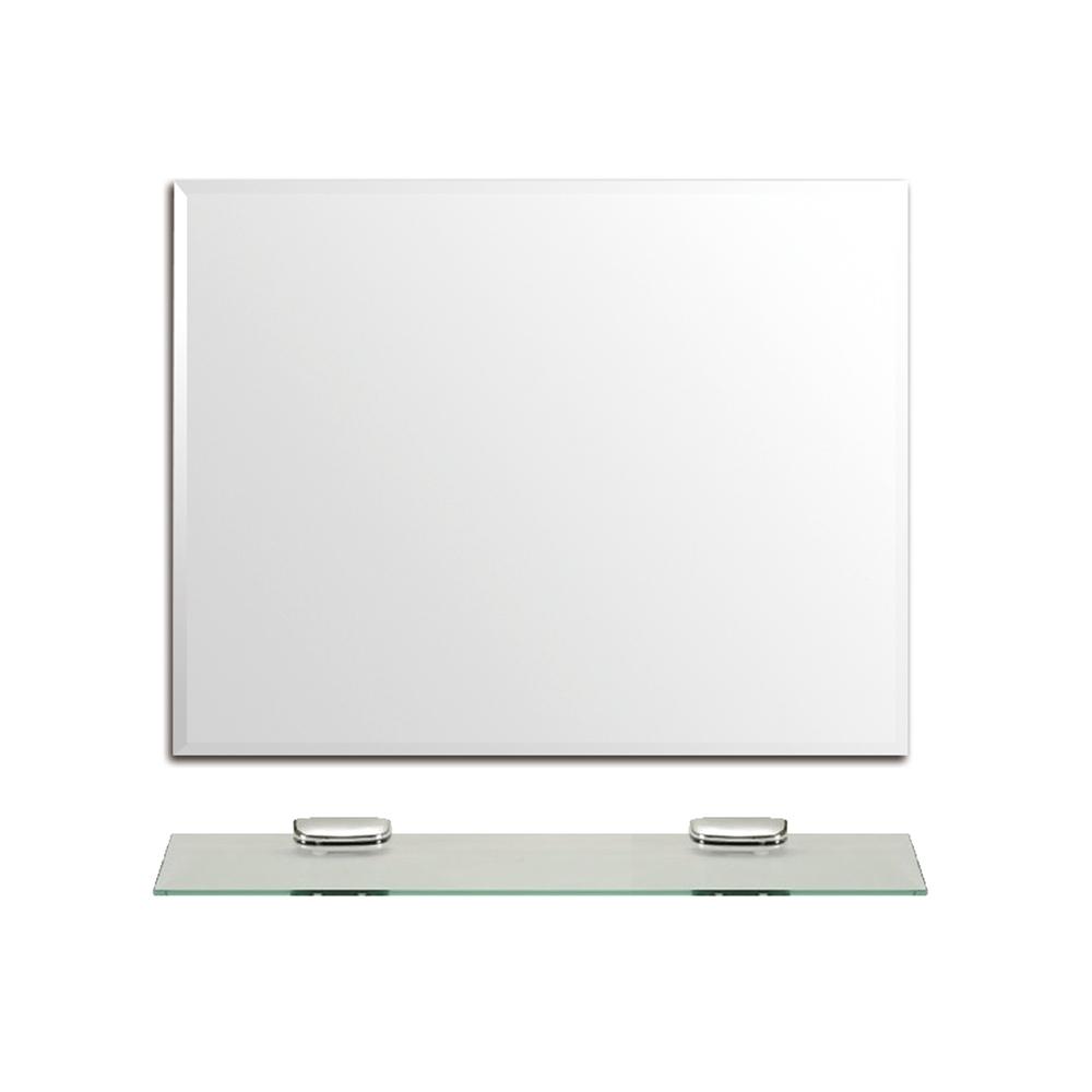 泰家 簡約衛浴壁掛方形化妝鏡(附平台)