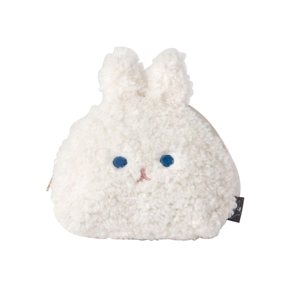 Livework 冬日暖萌兔半月收納包M-牛奶兔