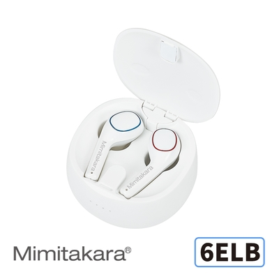 耳寶 助聽器(未滅菌) Mimitakara數位助聽器6ELB (雙耳/白色)
