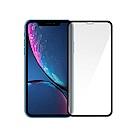 (買就送鏡頭貼)SHOWHAN】iPhone XR(6.1吋)3D曲面鋼化玻璃保護貼/黑色