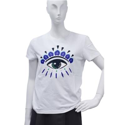 KENZO 經典眼睛標誌印花短袖圓領衫(白)